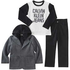 Calvin Klein Boys' 3-piece Set, Black and Gray, Size 3T