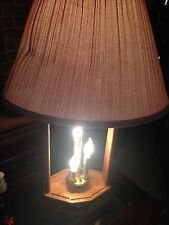 VINTAGE Wood DOUBLE Table Lamp