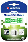 VERBATIM PENDRIVE USB 2.0 32GB CHIAVETTA PENNA 32 GB CHIAVE FLASH MICRO
