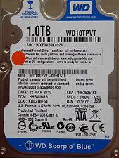 1 TB WD WD10TPVT-00HT5T0 / HHBVJBBB / 22 MAR 2010 / 2060-771672-004 REV A
