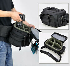 Large Womens Mens Camera Shoulder Waist Bag Insert DSLR SLR Canon Nikon Pentax