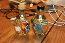 Lot of 2 Miniature Specialties Co Apricot Cordial Hand Painted Bottles