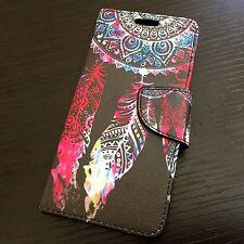 HTC Desire 530 - WATERCOLOR DREAMCATCHER Card Slot Wallet Money Pouch Case Cover