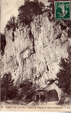 CPA Carte Postale Ancienne Foret de Lente Route de Bouvante Tunnel pionnier