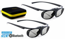 2x Hi-shock 3d Occhiali BT Pro Black Heaven per Bluetooth TV Sony, Samsung, Sharp