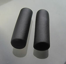 "Pair of 1 1/4"" Hand Grips Tool Garden Handle Tube Wheelbarrow Cart Rubber"
