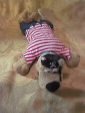 Scooby Doo Warner Bros. Plush Scooby Dog in Pirate Outfit Laying Flat Stuffed 10