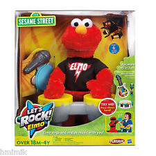 NEW SESAME STREET LETS ROCK! SINGING ELMO MICROPHONE TAMBOURINE DRUM MUSIC SET