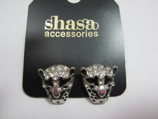 Crystal Leopard Stud Earrings