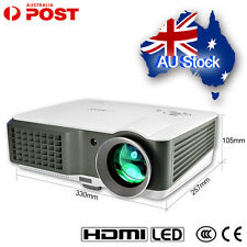 7000:1 4000Lumens Full HD Home Theater Multimedia LED Projector USB HDMI VGA AV