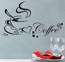 Coffee Cafe Wandtattoo Wallpaper Wand Schmuck 50 cm Wandbild Kaffee
