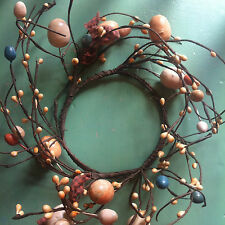 Primitive Country Easter Egg Candle Wreath/Ring
