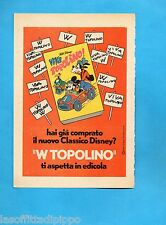 TOP973-PUBBLICITA'/ADVERTISING-1973- CLASSICI DISNEY - VIVA TOPOLINO