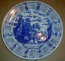 EIT Calendar Collectors Plate GOD BLESS OUR HOUSE THROUGHOUT 1987