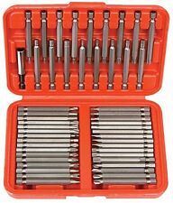 Extra Long Security Bit 50pc Set Tamper Proof Hex Torx Star Pozi Tri Wing