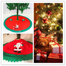 Christmas Tree Skirt Snowman Decoration 90CM ReAd Merry Deluxe Xmas Felt