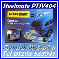 Steelmate PTSV404 Matt Black 4 Eye Parking Sensors, Camera and Monitor