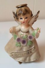 Vintage ENESCO September Porcelain Girl Birthday Angel Japan FIGURINE