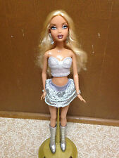 Barbie My Scene Kennedy Club Disco Doll Dressed Top Heart Skirt Silver Boots