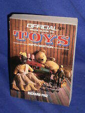 Vintage Official Price Guide to Toys by Richard Friz 5th Ed 1988 Pocket Size
