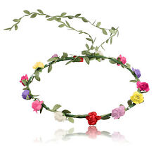 Boho Lady Girl Floral Flower Festival Wedding Garland Forehead headbands Crown