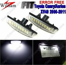 2pc Xenon White LED License Number Plate Light For Toyota Camry/Aurion 2006-2011