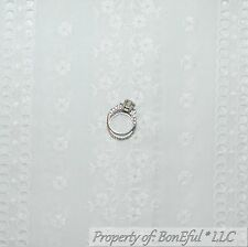 BonEful Fabric FQ Cotton Quilt VTG Antique Baby White EYELET Flower Embroidered