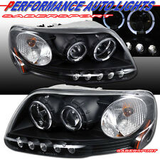 97-03 FORD F150 97-02 EXPEDITION HALO PROJECTOR HEADLIGHTS BLACK w/ LED PARKING