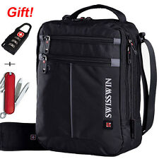 SWISSWIN Men's Shoulder Bag Messenger Bag Sports Travel Bag Hanbag Black New