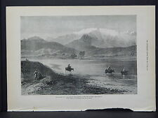 Illustrated London News Full Page B&W S6#154 May 1879 Disaster to 10th Hussars