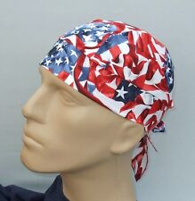 Waving USA Flag Do Rag Skullcap Headwrap - Large - Made in USA - Doo Dew Du Rag