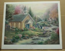 Shall We Gather At The River by Paula Vaughan-Baptism-Religious-Country Church