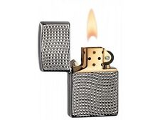 Zippo 28544 armor high polish black ice chrome finish Lighter