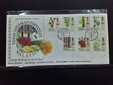 Malaysia fdc 1986 agro definitive 14 states  capital cancellation + broucher