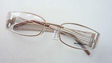 Damengestell Brillenfassung auffallend breiter Bügel Naturfarben Nachtschwärmer