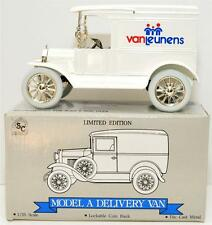 Ford Model A Delivery Van 1/25 Scale Die Cast Metal Liberty Coin Bank #2515 NIB