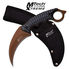 MTech Xtreme Fixed Blade Hunting Karambit Style Handle Knife Knives # 8140BT