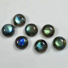 AAA 10 PC NATURAL LABRADORITE SMOOTH ROUND SHAPE 8X8 MM CABOCHON GEMSTONE