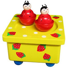 *NEW IN BOX* Wooden Music Box Dancing Magnetic Ladybirds