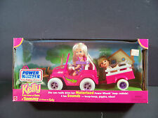 NIB BARBIE DOLL 1997 KELLY TOMMY POWER WHEELS FISHER PRICE MOTORIZED JEEP CAR