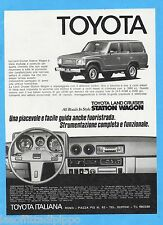 QUATTROR981-PUBBLICITA'/ADVERTISING-1981- TOYOTA LAND CRUISER STATION WAGON