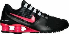 New Nike Womens Shox Avenue SE Black Ember Glow Running Shoes sz 7.5