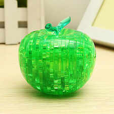 Space Thinking 3D Crystal Apple Puzzles Blocks Building Toys Office Desk Gift