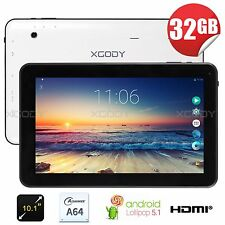 "XGODY 10.1"" Quad Core A64 Google Android5.1 Lollipop 32GB Tablet PC Dual Ca"