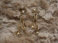 MSRP $195 Oscar de la Renta Ball and Crystal Linear Drop Earrings
