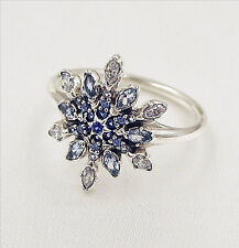 Genuine Authentic Pandora Crystallised Snowflake Ring 190969NBLMX Size 54