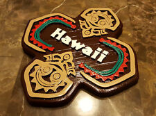 """7"""" x 7"""" Personalized Polynesian Themed Longhouse Tiki Sign / Plaque!"""