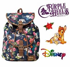 Loungefly Disney Bambi and Thumper Floral Collage Woodland Slouch Backpack