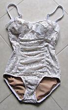 JANTZEN   Size 6  Woman's 1 Pc Swimsuit, Bathing Suit   White Lace   NWT  LOVELY