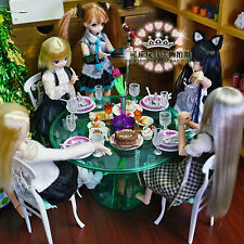 Green Dining Room Table Chair Ware Furniture Set 1:6 for Barbie Monster High MIB